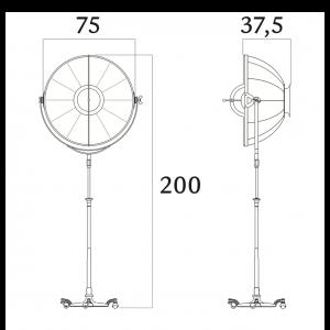 Fortuny Atelier 76 staande lamp bladzilver