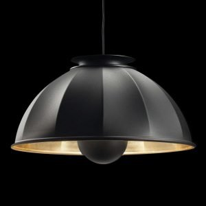 Fortuny Cupola hanglamp zwart - bladgoud