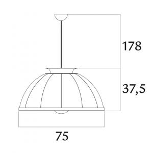 Fortuny Cupola hanglamp zwart - bladzilver