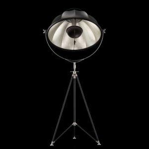 Fortuny Studio 76 staande driepoot lamp zwart - bladzilver