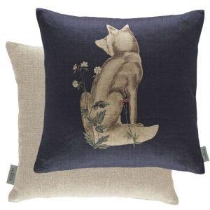 Morris & Co kussen Forest Fox Indigo