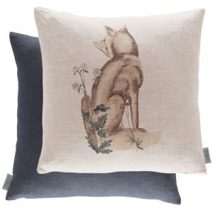 Morris & Co kussen Forest Fox Linen