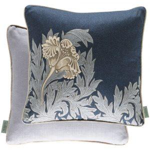 Morris & Co kussen Tulip Indigo-Linen