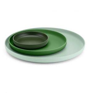 Vitra Trays groen, set van 3