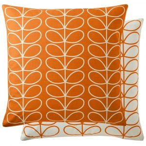 Orla Kiely kussen Small Linear Stem Persimmon