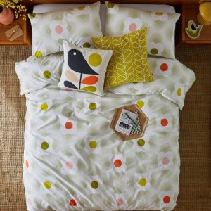 Orla Kiely kussen Early Bird Pale Rose