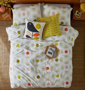 Orla Kiely kussen Small Linear Stem Sunflower
