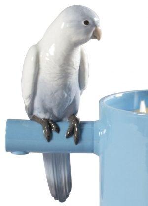 Lladró geurkaars Parrots Scented Treasure blauw