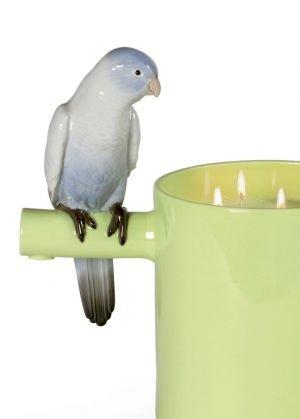 Lladró geurkaars Parrots Scented Treasure groen