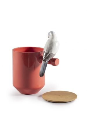 Lladró geurkaars Parrots Scented Treasure rood