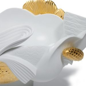 Lladró centerpiece Naturofantastic goud
