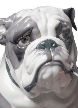 Lladró honden figuur Bulldog with Lollipop