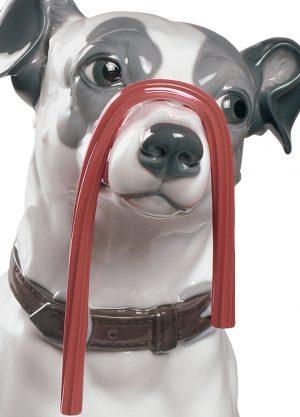 Lladró honden figuur Jack Russel with Licorice