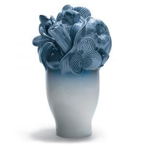 Lladró grote vaas Naturofantastic blauw