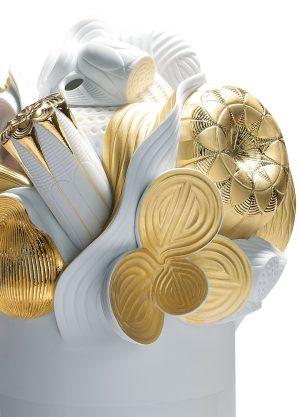 Lladró grote vaas Naturofantastic goud