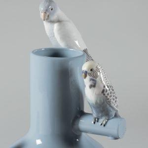 Lladró vaas Parrot Parade blue