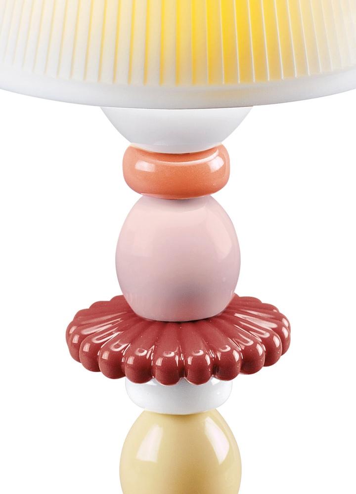 Lladró tafellamp Lotus Firefly rood