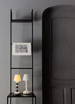 Lladró tafellamp Palm Firefly zwart-wit