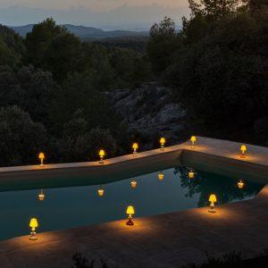 Lladró tafellamp Sunflower Firefly ivoor