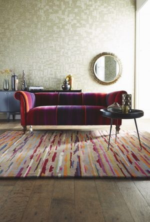 Harlequin tapijt Nuru koper