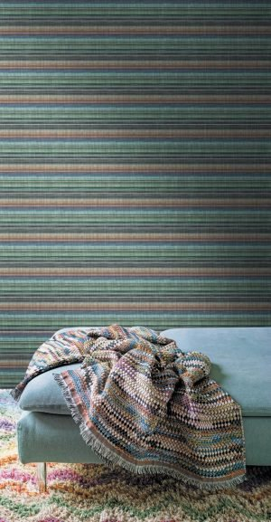 Missoni Home behang Riga Multicolore horizontaal 10199