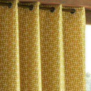 Orla Kiely kant en klaar gordijnen Woven Acorn Cup Dandelion
