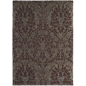 Morris & Co tapijt Autumn Flowers Plum