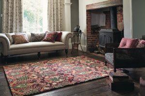 Morris & Co tapijt Granada red-black