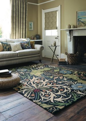 Morris & Co tapijt Seaweed Ink