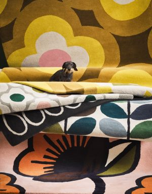 Orla Kiely tapijt Multi Stem Kingfisher