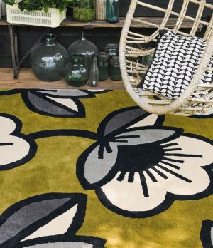 Orla Kiely tapijt Passion Flower Olive