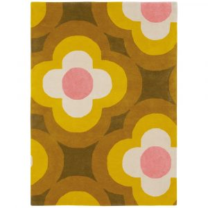 Orla Kiely tapijt Pulse Yellow