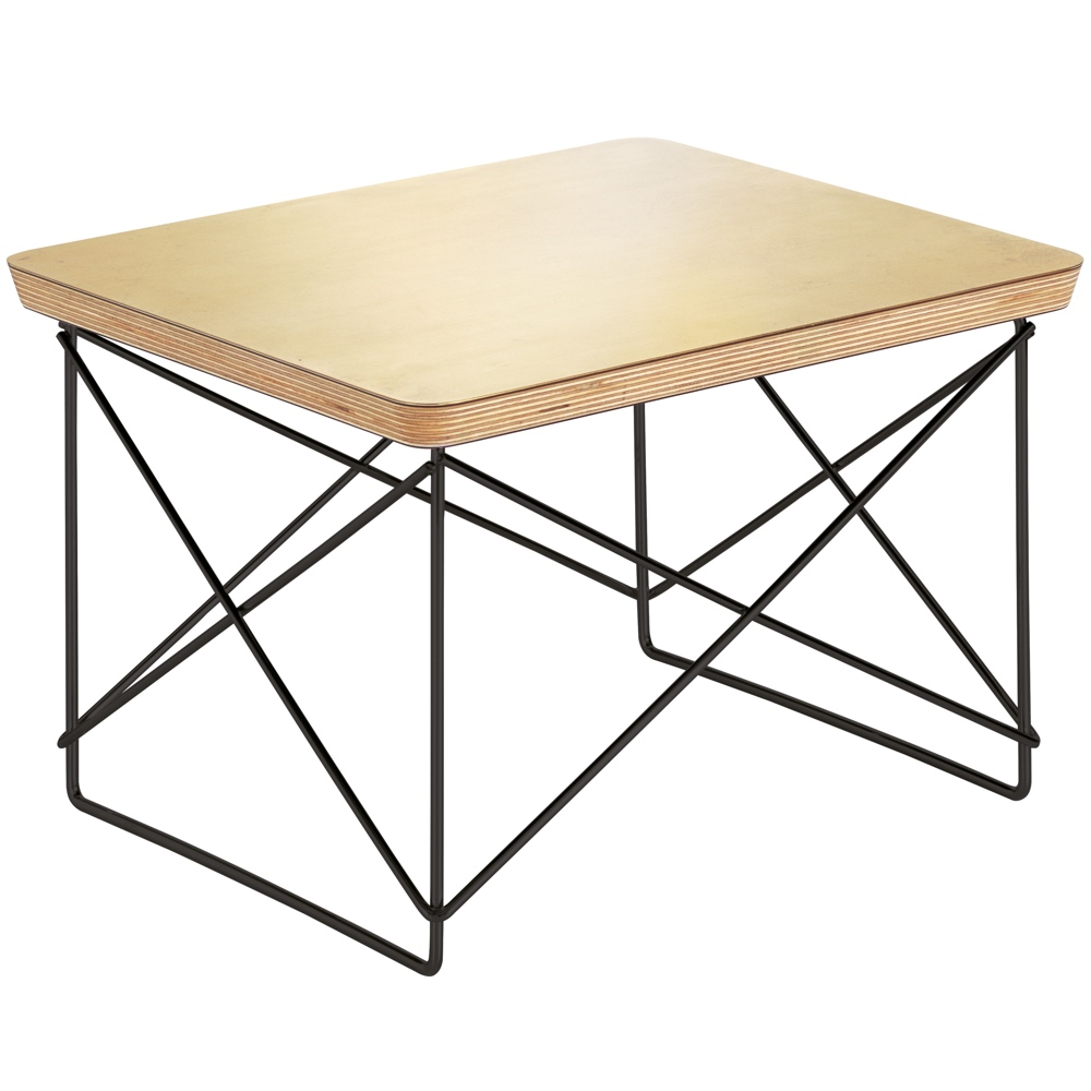 Eames Ltr Bijzettafel.Vitra Eames Occasional Table Ltr Bijzettafel Bladgoud