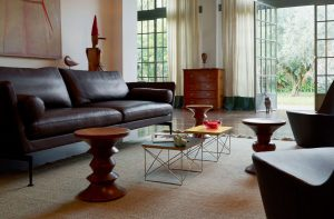 Vitra Eames Occasional Table LTR bijzettafel bladgoud