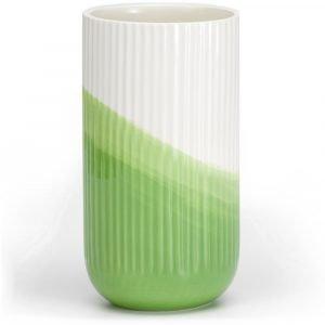 Vitra geribbelde vaas Herringbone Green