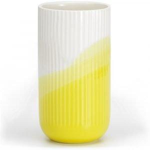 Vitra geribbelde vaas Herringbone Yellow