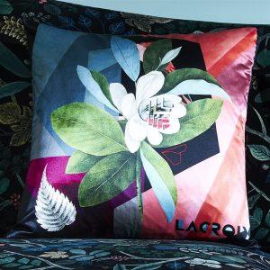 Christian Larcroix kussen Cubic Orchid Multicolore