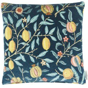 Morris & Co kussen Fruit Velvet Indigo-Slate