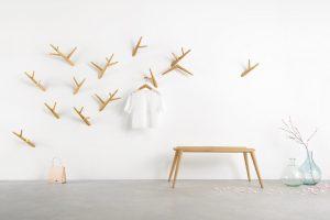 Klybeck houten kapstok haken Ivy - set van 3