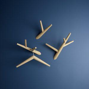 Klybeck houten kleerhanger K - set van 2