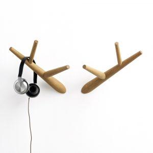 Klybeck houten kapstok haken W - set van 2