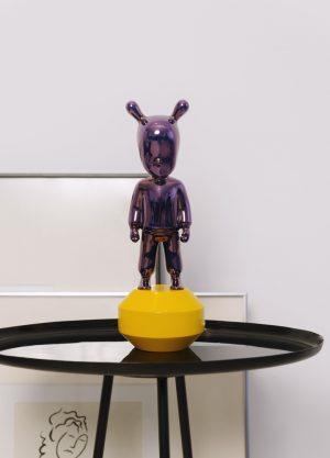 Lladró figuur The Guest klein paars op geel