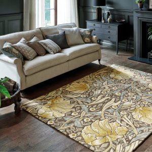 Morris & Co tapijt Pimpernel Aubergine
