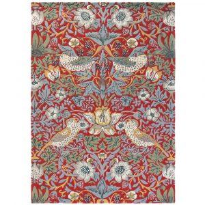Morris & Co tapijt Strawberry Thief Crimson