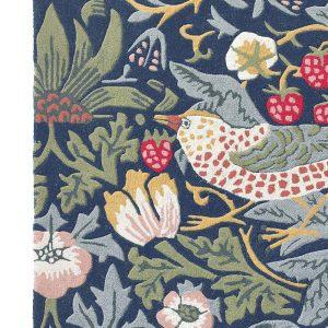 Morris & Co tapijt Strawberry Thief Indigo