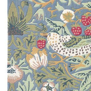 Morris & Co tapijt Strawberry Thief Slate