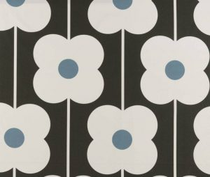 Orla Kiely gordijnstof Abacus Flower Powder Blue