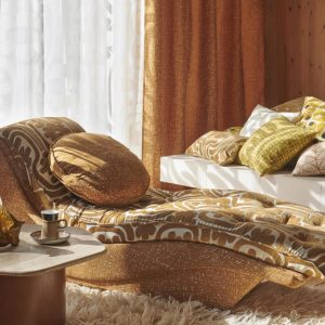 Orla Kiely gordijnstof Bark Texture Orange