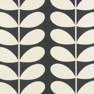 Orla Kiely gordijnstof Giant Stem Cool Grey