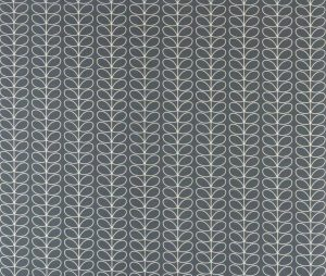 Orla Kiely gordijnstof Linear Stem Cool Grey